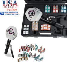 Hydraulic Hose Crimper Crimping Tool Kit Conditioner Automotive Repair Tool USA