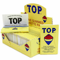 TOP Single Wide Rolling Papers - 10 PACKS - Fine Gummed Cigarette RYO Tobacco