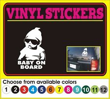"8"" Baby on Board funny cartoon window car truck vinyl sticker decal"
