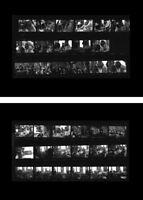 John Lennon Montreux Switzerland 1969, two photo negative contact sheets Beatles