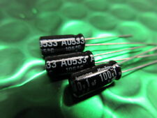 100v 1uf 105 ° C larga vida, baja impedancia, Radial Condensador YXF ** ** 10 por Series