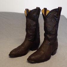 Vintage Tony Lama Western Cowboy Black & Gold Label Elephant Boots men's 8.5Eee