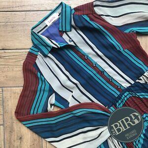Striped Button Up Dress Louche
