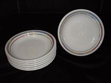 "Arzberg Daily Rainbow Porcelain 8 1/4"" Soup Dishes Art Deco Design Made Germany"