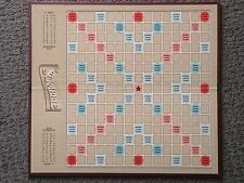 SCRABBLE Game Board, Tan Color Bkgd Hasbro Replacement/Crafts