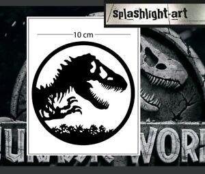 Jurassic logo symbol 10cm black Vinyl Decal Sticker for car wall laptop etc Park