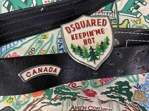 DSQUARED 2 Vintage Keepin 'Me Hot Belt D2 Canada Retro Belt