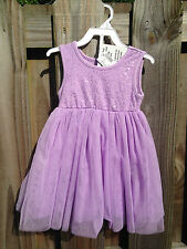 New The Childrens Place Girls 3T Purple Tulle Sparkle Dress Bloomers Outfit Set