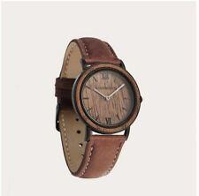Brown Walnut Pecan Petite Wood Watch Woman minimal - 34 mm