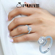 925 Sterling Silver Filled Cubic Zirconia Wedding Engagement Proposal Ring Gift