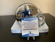 Troy Aikman Signed Dallas Cowboys Chrome Mini Helmet with Beckett COA