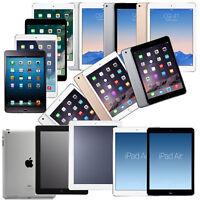 Apple iPad 5, iPad 4, iPad 3, iPad 2 9.7in WiFi AT&T Verizon GSM Unlocked