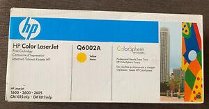 Hp Colour Laser Jet Print Cartridge Q6002A Yellow - 1600 - 2600 - 2605