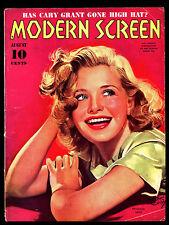 "VINTAGE 1939/AUG ""MODERN SCREEN MAGAZINE"" PRISCILLA LANE COVER  VINTAGE MAGAZINE"