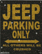 JEEP PARKING METAL SIGN RUSTIC VINTAGE STYLE 8x10in 20x25cm garage