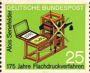 POSTZEGEL/BRIEFMARKE ALOIS SENEFELDER 175 JAHRE FLACHDRUCKVERFAHREN 1972