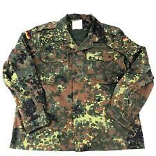 German Flecktarn Camo Field Shirt, Authentic Military Camouflage Top, Size GR15