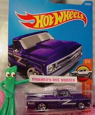 '67 CHEVY C10 truck #158✰purple; 5sp✰HW TRUCKS✰2017 US Hot Wheels case H