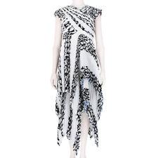 Proenza Schouler Black White Leopard Sculptured Accordion Pleated Dress US6 UK10