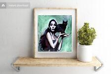 Cher Acrylic Painting Digital 4x4 JPG Celebrity Musician Illustration Artwork
