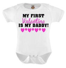 Baby Vest Mt First Valentine Is My Daddy Baby Bodysuit Cute Valentines Gift