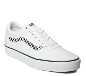 Vans Ward Men's Size 11.5  Checkerboard White Skate Shoes Old Skool NIB