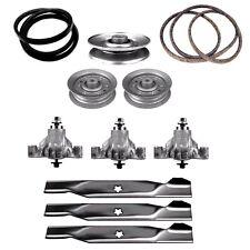 """44"""" Deck Rebuild Kit w/ Belts, Blades, Idler Pulley & Spindles 532131264 104360X"""