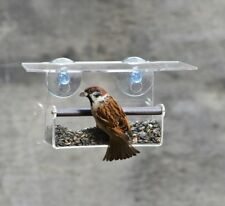 Window Bird Feeder by Wild Birds cardinal, chickadee - Backyard nature, Gift mum