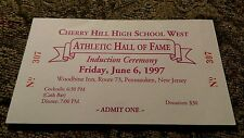 1997 Cherry Hill High School West Athletic Hall Of Fame ticket Woodbine Inn RARE