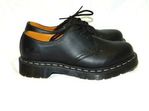 Dr Martens Size 6 37 Black Smooth Leather Oxford Shoes 3-eye Womens Low Top Tie