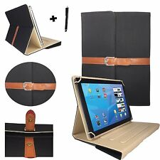 "10 inch Tablet Design Case for Bush Spira B2 - 10"" Black Stylish"