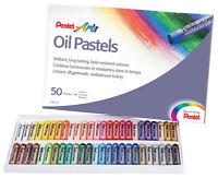 Pentel Arts Oil Pastels Set Artists Fade Resistant Colour (50 Piece Set)