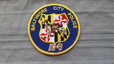 Baltimore City Police K-9 Armabzeichen Patch K9 Aufnäher US Hundeführer
