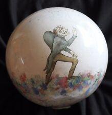 très ancienne porte perruque boule en verre  soufflée decorée