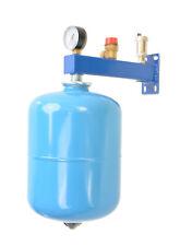 Set Membran Ausdehnungsgefäß mit Sicherheitsgruppe für Trinkwasser Blau