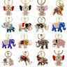 Crystal Rhinestone Elephant tassels Charm Pendant Keychain Handbag Keyring Gift