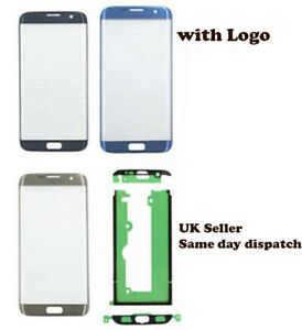 For Samsung Galaxy S7 Edge G935 LCD Front Outer Glass Screen + adhesive sticker