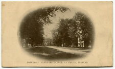 "1921 Vintage Postcard: ""Driveway, Earlham College"" [Richmond, Indiana]"