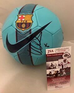 David Villa New York City FC signed Barcelona Barca Soccer Ball Spain JSA