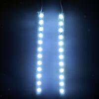 2pcs White LED Light Strip w/ Switch for Roller Skate Skateboard Rollerblade