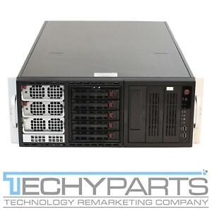 """SuperMicro 8047R-TRF+ 4U 5x 3.5"""" LFF 4x LGA2011 E5-4617 X9QRi-F+ Server CTO"""