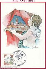 ITALIA MAXIMUM MAXI CARD PERGOLA PESATO GIANFRANCESCO FERRI 1991 ANNULLO C454