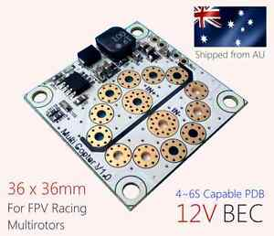 (2PCS) Presto Pegasus Mini PDB (4~6S capable with Built-in 12V BEC) for FPV quad