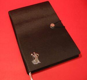 Ballroom Dancers A5 Black Note Book Journal Dance Teacher Student Gift