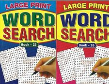 10 ASSORTED LARGE PRINT WORD SEARCH BOOKS 75 PUZZLES IN EACH A5 SIZE £1 A BOOK