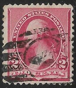 2v0205 Scott 220 US Stamp 1890 2c Washington Used