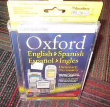 New Oxford English To Spanish Dictionary Cd-Rom For Pda Smartphone, Handmark