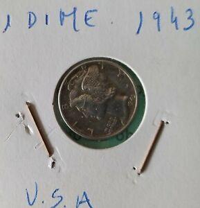 1 DIME USA AÑO 1943 - EBC