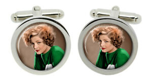 Myrna Loy Cufflinks in Chrome Box