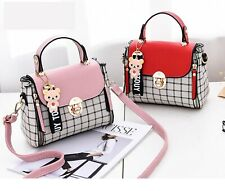 Cute Kawaii Harajuku Korean Lolita Plaid Shoulder Bag Purse Handbag Women Bag